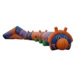 caterpillar inflatable maze