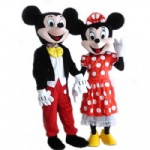 Mickey and Minnie Disney mascot costume