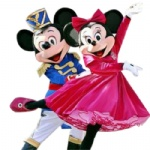 Mickey and minnie New Disney Mascot costume