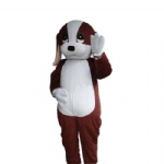 Happy Dog cartoon mascot costume