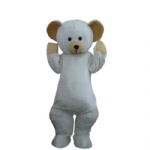 The Huggy Bear cartoon character mascot costume