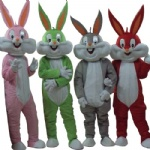 Rubbit bunny cartoon mascot costumes