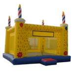 birthday cake mookwalk /inflatable castle combo