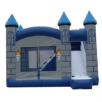 gray old mension inflatable castle