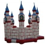 steeple and animals inflatable castle