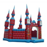 Red luxurious inflatable castle / Steeple inflatable castle