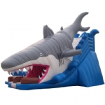 SL-047-big shark inflatable slide/Shark Attack inflatable Slides