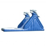 double Dophine inflatable water slide