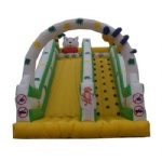 Farm and arch inflatable slide