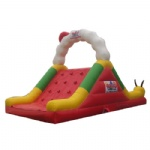 Caterpillar inflatable slide