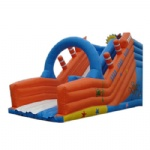 under water world inflatable slide