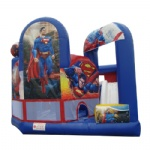 superman inflatable castles with obstacle course
