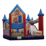 Disney Princess castle inflatable obstacle course