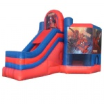 spider man inflatable bounce house & combo