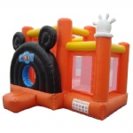 party bouncers inflatable jump house orange