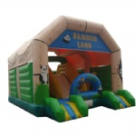 bamboo land inflatable bouncer/ panda and monkey inflatable bouncy house