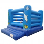 Blue sea inflatable bouncer