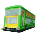 school bus inflatable bouncer/Double-decker sleeper car inflatable bouncer