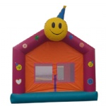 smile face inflatable jumping games