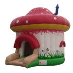 Red Mushroom inflatable moonwalk