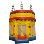 birthday cake inflatable moonwalk