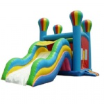 palace & wave slide inflatable castle