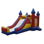 red inflatable castle & combo