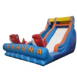 big kahuna wet inflatable slide