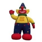 inflatable clown cartoon advertising