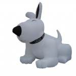 inflatable white dog cartoon