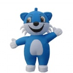 inflatable blue cat cartoons
