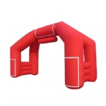 Replace logo inflatable arches door with velcro for all kinds of activity