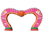 inflatable wedding party archway heart shape arch