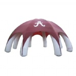outdoor inflatable advertising dome tent with  8 pillars and red dome