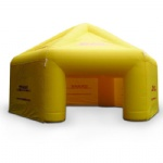 yellow air tight advertising inflatable tents with low price