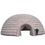 huge inflatable camping igloo for cold weather area