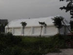 white air tight outdoor inflatable tents for party, event and sports