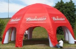 red  inflatable tents  with 6 pillars for Outdoor advertising
