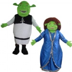 shrek and fiona Mascot Costume for adult