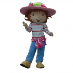 Strawberry Shortcake girl Mascot Costume for adult
