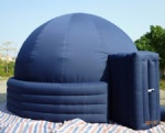 4 tube air lock door planetarium dome inflatable tent