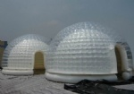 IT-151-transparent double layer inflatable dome tent for outdoor activity