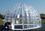 transparent double layer inflatable dome tent for outdoor activity