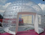 transparent PVC inflatable Dome tent for Lawn camping