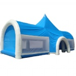 beautiful luxury blue exhibition and party inflatable marquee