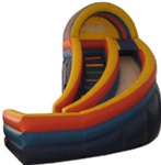 Curve Inflatable Slide 18 Commercial grade equipment