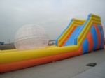 inflatable zorb ball ramp game