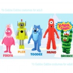yo gabba gabba mascot cartoon costumes for adult