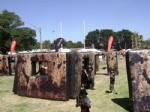 inflatable paintball wall