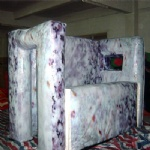 Inflatable paintball bunker walls